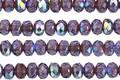 Czech Glass Violet AB w/ Bronze Fire Polished Rondelle 3x5mm