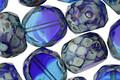 Czech Glass Mediterranean Picasso Slice Faceted Round 12mm