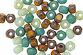 Czech Glass Turquoise Vintage Mix Trica Beads 2.5x4mm