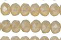 Czech Glass Butter Cream Fire Polished Rondelle 6x9mm