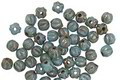 Czech Glass Blue Turquoise Picasso Melon Round 3mm