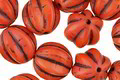 Czech Glass Coral w/ Chocolate Melon Round 12mm