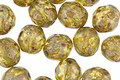 Czech Glass Moss Green Picasso Fire Polished Round 8mm