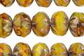 Czech Glass Sunflowers Cruller 7x9mm