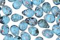 Czech Glass Capri Blue w/ Copper Teardrop 5x7mm