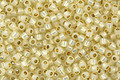 TOHO Permanent Milky Light Jonquil (with Silver Lining) Round 11/0 Seed Bead