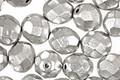 Czech Fire Polished Glass Matte Metallic Aluminum Round 8mm