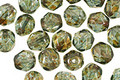 Czech Fire Polished Glass Luster Transparent Green Round 6mm