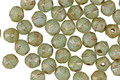 Czech Glass Luster Mint Green Picasso English Cut Bead 4mm