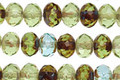 Czech Glass Spring Lettuce Mix Fire Polished Rondelle 4x6mm