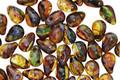 Czech Glass Lush Meadow Picasso Teardrop 4x6mm