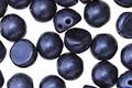 CzechMates Glass Metallic Suede Dark Blue 2-Hole Cabochon 7mm