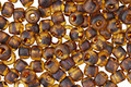 TOHO Frosted Transparent Light Topaz Picasso Hybrid Round 6/0 Seed Bead