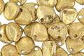 Czech Glass Matte Textured Gold Rose Petal 8x7mm