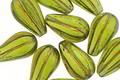 Czech Glass Bronzed Olivine Melon Teardrop 13x7mm