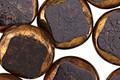 Czech Glass Jet Crackled Bronzed Coin 16mm