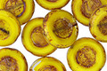 Czech Glass Citrus Picasso Pressed Coin 12mm
