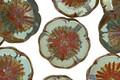 Czech Glass Peruvian Opal Picasso Flower 15mm