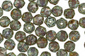 Czech Glass Sea Green Picasso English Cut Bead 4mm