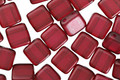 CzechMates Glass Pearl Lights Claret 2-Hole Tile 6mm
