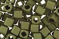 TOHO Matte Dark Olive Cube 3mm Seed Bead