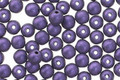 Czech Glass Purple Metallic Suede Round Druk 4mm