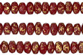 Czech Glass Harvest Red w/ Gold Flecks Fire Polished Rondelle 3x5mm