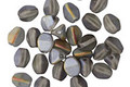 Czech Glass Matte Grey AB Pinch Bead 5x4mm