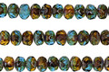 Czech Glass Rainforest Fire Polished Rondelle 3x5mm