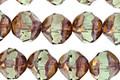 Czech Glass Olivine w/ Bronze Chandelier Cut 8mm