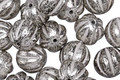 Czech Glass Antique Silver Melon Round 8mm
