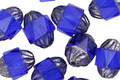 Czech Glass Cobalt Turbine 10x8mm