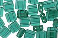 CzechMates Glass Emerald 2-Hole Tile 6mm