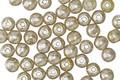 Czech Glass Lemongrass w/ Mercury Glass Finish Round Druk 4mm