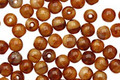 Czech Glass Pearl/Brown Round 4mm