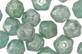 Czech Glass Beach Glass w/ Mercury Luster English Cut Bead 6x8mm