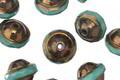 Czech Glass Bronzed Turquoise UFO 8x10mm