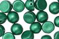 CzechMates Glass Saturated Metallic Lush Meadow 2-Hole Cabochon 7mm