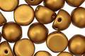 CzechMates Glass Matte Metallic Goldenrod 2-Hole Cabochon 7mm