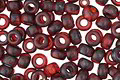 TOHO Frosted Transparent Siam Ruby Picasso Hybrid Round 8/0 Seed Bead