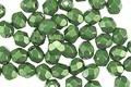 Czech Fire Polished Glass ColorTrends: Saturated Metallic Kale Round 4mm