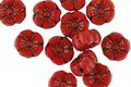 Czech Glass Bronzed Red Pepper Hibiscus Coin 7mm