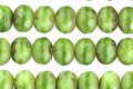 Czech Glass Green Apple Picasso Fire Polished Rondelle 5x7mm