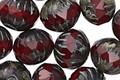 Czech Glass Merlot Picasso Cruller 10x11mm