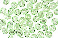 Czech Fire Polished Glass Silver Lined Peridot Round 4mm