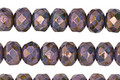Czech Glass Luster Bronze Wisteria Fire Polished Rondelle 5x7mm
