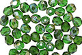 Czech Fire Polished Glass Emerald Celsian Round 4mm