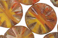 Czech Glass Butternut Squash Flower Window Coin 18mm