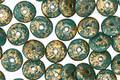 Czech Glass Persian Turquoise w/ Gold Flecks Spacer 2x6mm