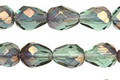 Czech Glass Luster Transparent Teal Faceted Teardrop 9x7mm